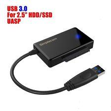 "USB 3.0 to SATA 2.5"" Hard Drive HDD SSD Adapter Converter Cable 22pin"