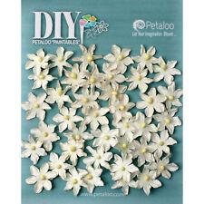 White Paper Scrapbooking Flower Embellishments