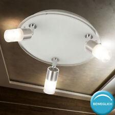 Diseño Lámpara de Techo Rendondo Proyector Móvil Cristal Focos Vestíbulo Rondell