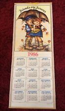 Vintage 1986 Wall Scroll Calendar Friends Are Forever
