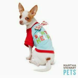 "Martha Stewart Pets® ""Santa's Helper"" Holiday Tee Size Large New"