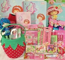 strawberry shortcake EASTER TOY GIFT BASKET SCHOOL SUPPLIES PLAY SET BIRTHDAY