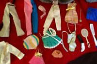 Mixed Lot Vintage Doll Clothing Pieces & Accessories for Small Dolls, Dawn Etc