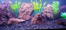 Aquarium Rock / Reptile 10lbs natural red lava rock 3/8 in enhances any setup.