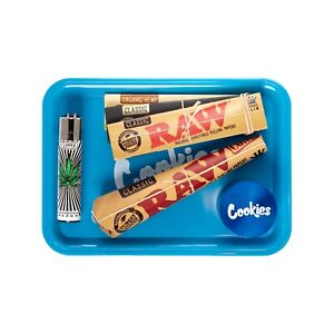 Rolling Tray Bundle Cookies Grinder Cones RAW Papers Tips Clipper Starter Kit