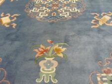 A SPENDID OLD HANDMADE CHINESE ORIENTAL RUG (245 x 183 cm)