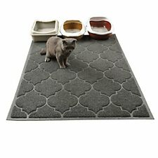 New listing Cat Litter Mat, Xl Super Size, Easy to Clean, 47x36 Inch, Large Litter Mat, Grey