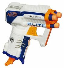 Brand New NERF N-Strike Elite XD TRIAD EX-3 Dart BLASTER White
