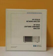 Hp 08753 90139 8753ab Network Analyzer8702a Lightwave Component Analyzer