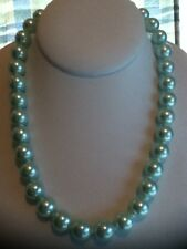 "Mother's day Gift unique quality beautiful 12mm 18"" LIGHT GREEN FRESHWATER PEARL"