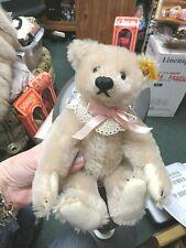 "Fabulous 9"" Steiff Cream Colored Bear with Button & Ear Tag #0167/22"