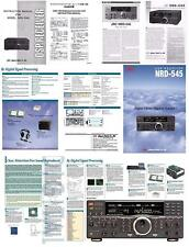 JRC NRD-545 fotocopia Manuale di istruzioni + schemi + OPUSCOLO DI 6 pagine a colori + +