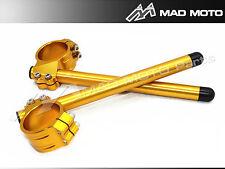 MAD MOTO Ø43mm-HANDLEBAR HANDLE BARS CLIP ON ONS YAMAHA R6 HONDA CBR600 gold