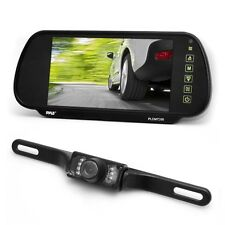 "NEW Pyle PLCM7200 7"" Backup Mirror Monitor + License Plate Night Vision Camera"