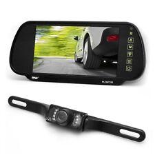 "NEW Pyle PLCM7200 7"" Backup Mirror Monitor + License Plate Night Vision Camera"
