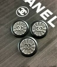 100% Authentic Chanel CC Logo LOT OF 3 Button Buttons Ø 0,91 inch Metal Classic