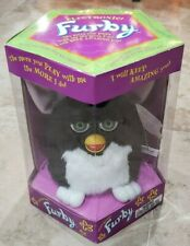 VINTAGE 1998 FURBY MODEL 70-800 BLACK AND WHITE/GREEN EYES NEW SEALED