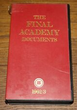 THE FINAL ACADEMY 1962/63 UK IKON PAL VIDEO 1984 WITH GYSIN POSTCARD FACTORY