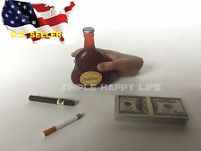 1/6 wine alcohol US Dollars Cigar Cigarette Hot toys Kumik Phicen stage property