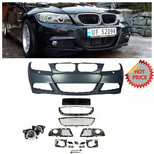 2009-11 LCI E90 MTECH STYLE FRONT BUMPER FOR BMW 3 SERIES NO PDC W/ FOG LIGHTS