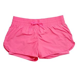 Lorna Jane Womens Running Shorts With Shorts Liner Hidden Pocket Pink Size M