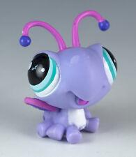 Littlest Pet Shop Butterfly #1559 Lavender Purple w/ Aqua Blue Eyes Petriplets