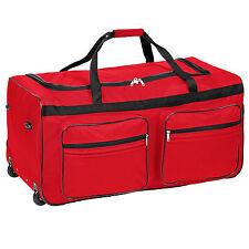 Sac de voyage XXL valise trolley légère sport bagage à roulettes 160 L rouge