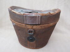 ANTIQUE CANVAS AND LEATHER HAT BOX FOR TLC