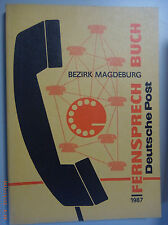 Fernsprechbuch Bezirk Magdeburg 1987 Halberstadt Parchen Schinne Sandau Stendal