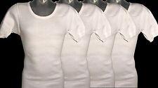 4 Stück original Bundeswehr Unterhemd T-Shirt Unterwäsche weiß NEU  Herren gr.5