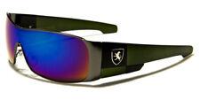 Sunglasses Polarized Metal Designer Sport Shades Wraps Men Gray Green PZ1109CMC