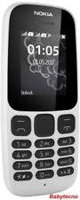 CELLULARE NOKIA 105 DS Bianco Dual Sim Radio Organizer WH-108 Torcia CLASSICO E