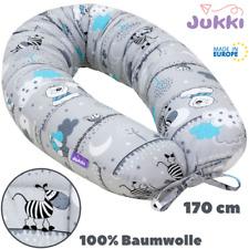 Schwangerschaftskissen Stillkissen Lagerungskissen XL 170cm Grau Zebra BAUMWOLLE