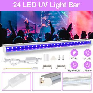 24LED UV Light Bar Black Light Fixtures Ultraviolet USB Lamp Strip DJ Party Club