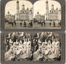 18 Stereofotos Russland Russia Moscow um 1900 Serie 2