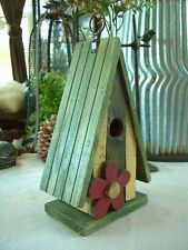 New listing Country Cottage Chic Hand Painted Decorative reclaimed Wood Daisy Bird House