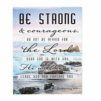 Be Strong And Courageous 10 x 8 Wood Decorative Sign Plaque