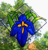 Iris Stained Glass Effect Window Cling/Decal