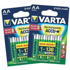 8 x VARTA AA Ni-MH 2100 mAh Ready2Use Rechargeable batteries R6 LR6 HR6