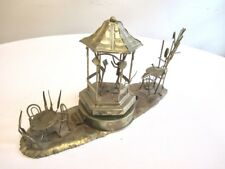 Vintage large Love Story rotating brass Sculpture Music Box conductor cafe Mcm
