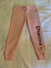 Love Republic Little Girls Pink W/ Rainbow sequins 'Dreamer' Joggers Size 5/6 Br