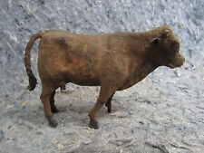 Antique Germany Putz Cow Carved Legs Walking Position Victorian Animal Toy