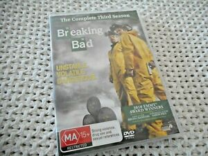 "Breaking Bad. ""complete third season"" (new, sealed)"