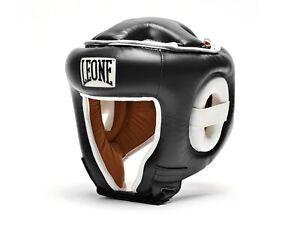 CASCO BOXE KICK BOXING MMA  LEONE  CS410 01  COMBAT NERO