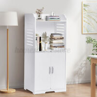 Wooden Bathroom Cabinet Free Standing Cabinet Storage Organizer Kitchen Rack US