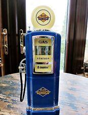 Nouvelle marque blue sunoco gaz / essence pompe digital clock radio