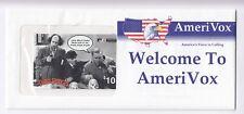 AMERIQUE  TELECARTE / PHONECARD .. USA 1$ AMERIVOX CINEMA MOVIE +N° NEUVE+ENCART
