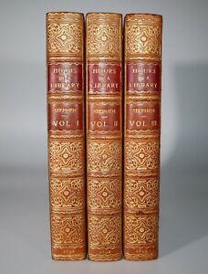 1892 Hours in a Library by Leslie Stephen in 3 Vols Bayntun Riviere Bindings