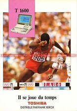 TOSHIBA T1600 T 1600 Ordinateur Portable Documentation Publicité Vintage
