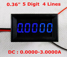 4-1/2(4.5) Digit Curren meter Panel Counter Blue LED DC 0-3.0000 4-Wires Display